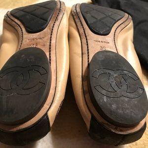 CHANEL Shoes - Chanel Stretch Spirit CC Ballet Flats